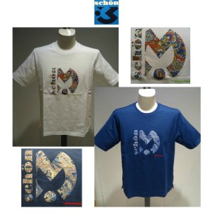 mila schon<ミラショーン>春夏/21年新/家紋プリント Tシャツ/50・48 サイズ/ホワイト・Dブルー/綿100%/日本製/定番モデル|artigiano-uomo