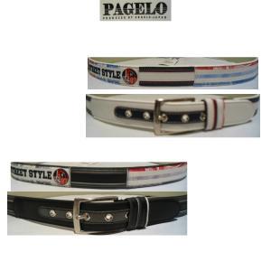 PAGELO<パジェロ>21新/50%OFF/キャラクター レザーベルト/W100〜105cmOK/大きいサイズ/ホワイト・ブラック/大きいサイズ/牛革/人気モデル|artigiano-uomo