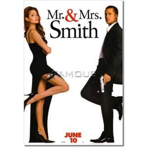 映画ポスター Mr.& Mrs. スミス グッズ (ブラッドピット) /片面印刷|artis