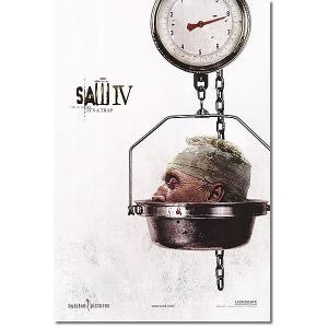 映画ポスター SAW4 (ソウ4) グッズ /頭部と秤 ADV-DS artis