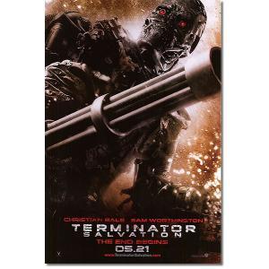 映画『ターミネーター4』の枚数限定&両面印刷オリジナルポスターです。配給会社が、枚数限定で、各劇場に...