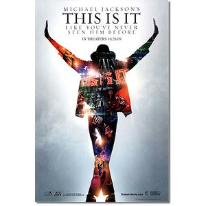 映画ポスター マイケルジャクソン THIS IS IT グッズ /両面印刷光沢あり artis