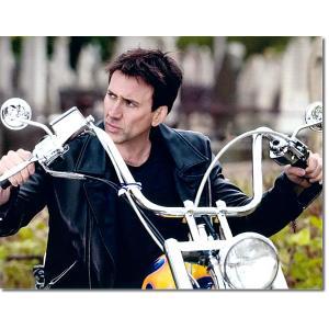 ニコラス・ケイジ直筆のサインが入った、映画『ゴーストライダー』のスチール写真です。安心の一生涯保証付...