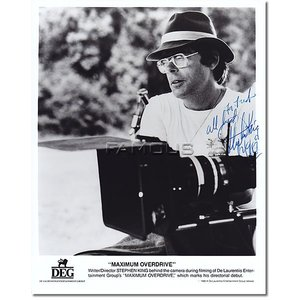 スティーヴン・キング (スティーブン・キング/Stephen King)直筆のサインが入った、映画『...