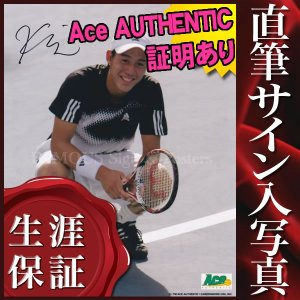 【 証明書(COA)・保証書付き 】プロテニス選手、錦織 圭 直筆のサインが入ったスチール写真(オー...