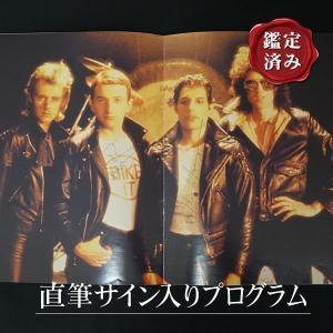 直筆サイン入り queen クイーン グッズ 1979 Crazy Tourプログラム /フレディマーキュリー ジョンディーコン ロジャーテイラー /オートグラフ artis