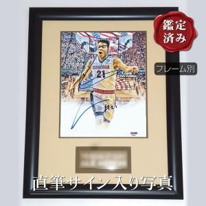 【 証明書・保証書付き 】バスケットボール選手、八村塁さん直筆のサインが入ったスチール写真(オートグ...