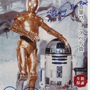 直筆サイン入り写真  スターウォーズ STAR WARS グッズ /R2D2 C-3PO ケニーベイカー アンソニーダニエルズ /映画 ブロマイド オートグラフ /フレーム別 artis