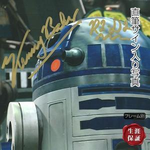 直筆サイン入り写真  スターウォーズ STAR WARS グッズ R2D2 ケニー・ベイカー /映画 ブロマイド オートグラフ /フレーム別|artis