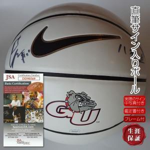 直筆サイン入りバスケットボール 7号サイズ 八村塁 グッズ アメリカ ゴンザガ大学 NBA ワシントンウィザーズ /英語+漢字+鑑定カード+実際の写真+ケース付|artis