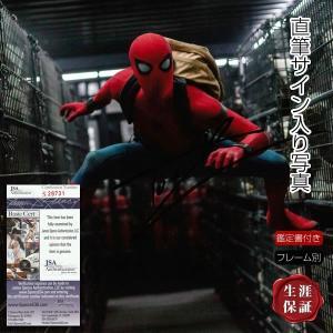 直筆サイン入り写真 スパイダーマン ホームカミング グッズ トム・ホランド /マーベル アメコミ 映画 ブロマイド オートグラフ /フレーム別 /鑑定カード付|artis