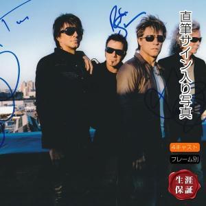 4メンバー 直筆サイン入り写真 ボン・ジョヴィ Bon Jovi グッズ /ジョンボンジョビ デヴィッドブライアン ティコトーレス リッチーサンボラ /オートグラフ|artis
