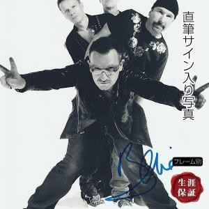 直筆サイン入り写真 U2 ボノ BONO グッズ /ブロマイド オートグラフ /フレーム別|artis