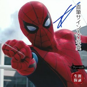直筆サイン入り写真 スパイダーマン ホームカミング グッズ トム・ホランド /マーベル アメコミ 映画 ブロマイド オートグラフ /フレーム別|artis