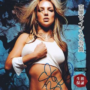 直筆サイン入り写真 ベイビーワンモアタイム ボーイズ 等 ブリトニー・スピアーズ Britney Spears グッズ /セクシー ブロマイド オートグラフ /フレーム別|artis