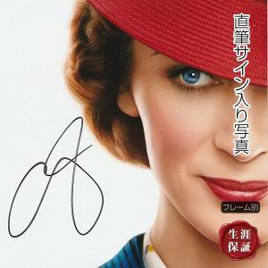 【 証明書(COA)・保証書付き 】エミリー・ブラント直筆のサインが入った、映画『メリー・ポピンズ ...