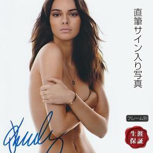 直筆サイン入り写真 ケンダル・ジェンナー Kendall Jenner /victoria's secret ファッション モデル セクシー /ブロマイド オートグラフ /フレーム別 artis