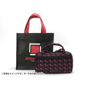 黒地に、アルティザン&アーティストのロゴを配したショッピングバッグです。持ち手の赤が効いています。 ...