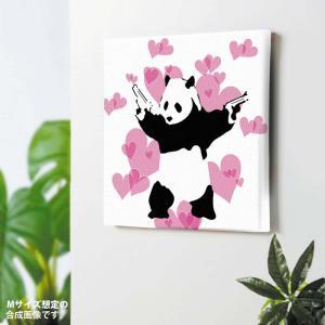 バンクシー  パンダ・ガンズ Banksy インテリアアート Panda Guns 作品 ポスター