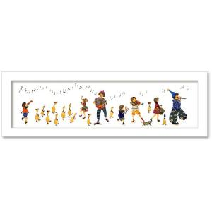 絵画 ミニ インテリア 壁掛け メルファンタジーコラージュAtelier Flower Horizon 新井 紀子かわいい絵 アートフレーム 装飾 壁絵 ミニアート
