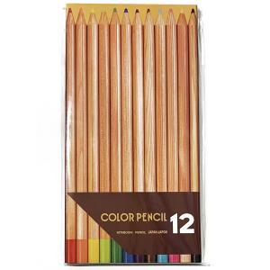 [ ゆうパケット可 ]  ナチュラル 色鉛筆 12色セット 【 デッサン スケッチ 絵画 色鉛筆 鉛筆 色えんぴつ 】 artloco