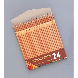 [ ゆうパケット可 ]  ナチュラル 色鉛筆 24色セット 【 デッサン スケッチ 絵画 色鉛筆 鉛筆 色えんぴつ 】 artloco