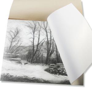ユニペーパー  α ポリプロピレンの描画用紙  スケッチブック F6 40枚入 【 紙  キャンバス 水彩紙 】|artloco