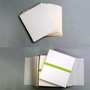 色紙 50枚組 画仙紙 どうさ引 極上 【 色紙 短冊 展示 用紙 】|artloco