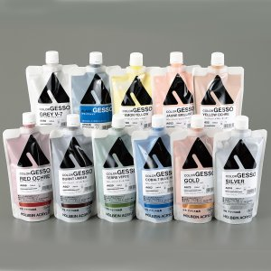 ホルベイン カラージェッソ 300mL ブラックジェッソ 【 油彩画 絵画 絵の具 えのぐ 下地剤 地塗り剤 】|artloco