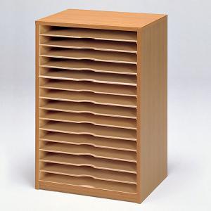 <メーカー直送品※代引きキャンセル不可> 画用紙整理棚 5053型 【 用紙 画用紙 整理 棚 引き出し 】|artloco