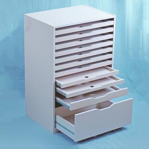 <メーカー直送品※代引きキャンセル不可> 画用紙整理棚 SR-101型 組立済 【 用紙 画用紙 整理 棚 】|artloco