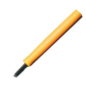 [ ゆうパケット可 ] ゴムハン彫刻刀 全鋼 三角刀 オレンジ柄 【 年賀状 ゴム 印鑑 スタンプ 版画】|artloco