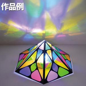 プッシュステンド六角ランプ 光源付き 完成サイズ:約103×103×高さ90mm セット内容:専用粘...