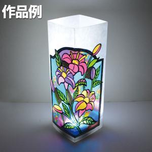 プッシュステンド光のタワー 光源付き 完成サイズ:約85×85×高さ240mm セット内容:専用粘着...