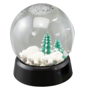 ねじ式 スノードームキット 球形・黒 【 工作 クリスマス ハロウィーン 装飾 スノードーム 】|artloco