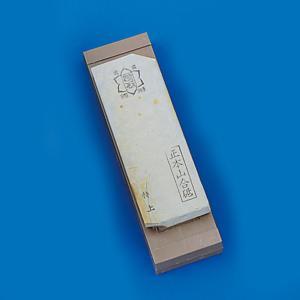 天然砥石 仕上砥 (台付) 約150×50×15mm 【 木工 木彫 木工具 砥石 天然 】