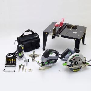 電動工具 BT3-SN 3種セット ツールスタンド付 【 DIY 電動 加工 丸のこ ジグソー トリマー 】|artloco