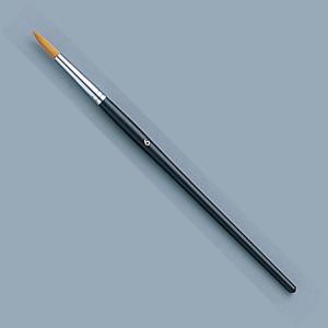 [ ゆうパケット可 ]  トールペイント筆 ナイロン毛 スクリプト ラウンド No.6 【 木工 トールペイント 筆 】 artloco
