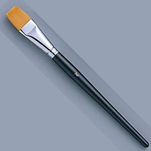 [ ゆうパケット可 ]  トールペイント筆 ナイロン毛 地塗り 仕上げ用フラット 3/4 【 木工 トールペイント 筆 】 artloco