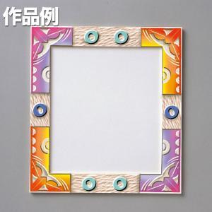 白木の色紙額 【 工作 手作り 作品 飾り サイン 】|artloco