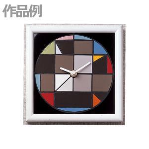 [ ゆうパケット可 ]  モザイク時計盤 朴材 【 工芸 タイル モザイク 】|artloco