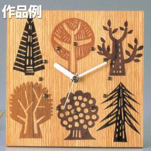 ウッドシート 時計盤 【 木工 工作 ウッドシート 木目象嵌 手作り 】|artloco