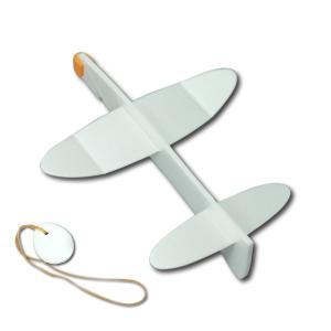 [ ゆうパケット可 ]  AOZORA ウイングス 自由に絵が描ける おえかきプレーン ホワイト 【 工作 飛行機 お描き 男の子 】|artloco