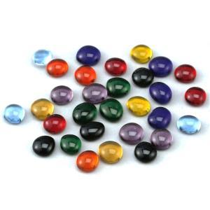 ガラスナゲット 約90g サイズ:約12〜16mmφ 約40個強  ビー玉をつぶしたような形をしてい...