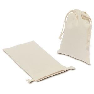 [ ゆうパケット可 ] コットン巾着 S 【 手作り用 素材 無地 ステンシル 染色 】|artloco