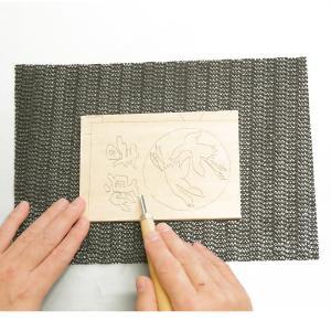 [ ゆうパケット可 ] すべり止めマット 【 年賀状 凸版 彫刻刀 版画】|artloco