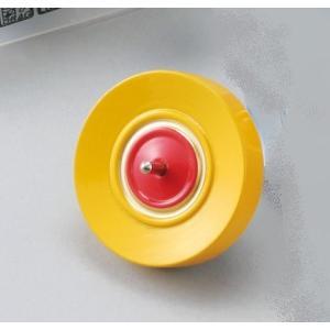 カラー鉄芯ごま ひも付 黄 【 民芸品 昔 おもちゃ 玩具 こま 】|artloco