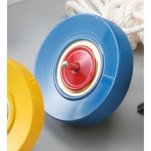 カラー鉄芯ごま ひも付 青 【 民芸品 昔 おもちゃ 玩具 こま 】|artloco