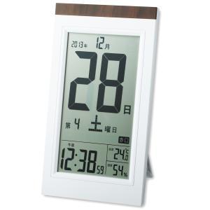 <お取り寄せ品>デジタル 日めくり電波時計 KW9254型 【 卓上 多機能 時計 】|artloco