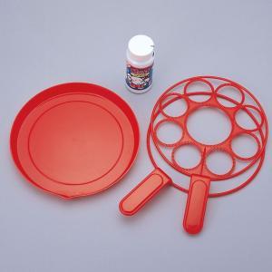 内容:シャボン玉液約100mL、皿、吹き用具2種  約19cmくらいのシャボン玉や、一度に9個のシャ...